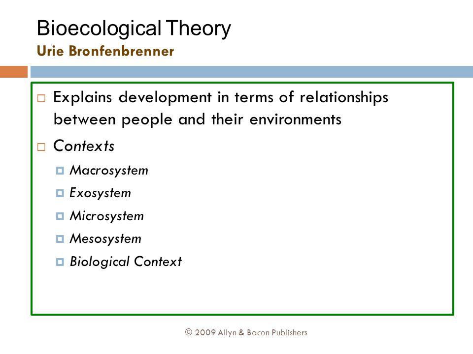 system ökologische theorie bronfenbrenner