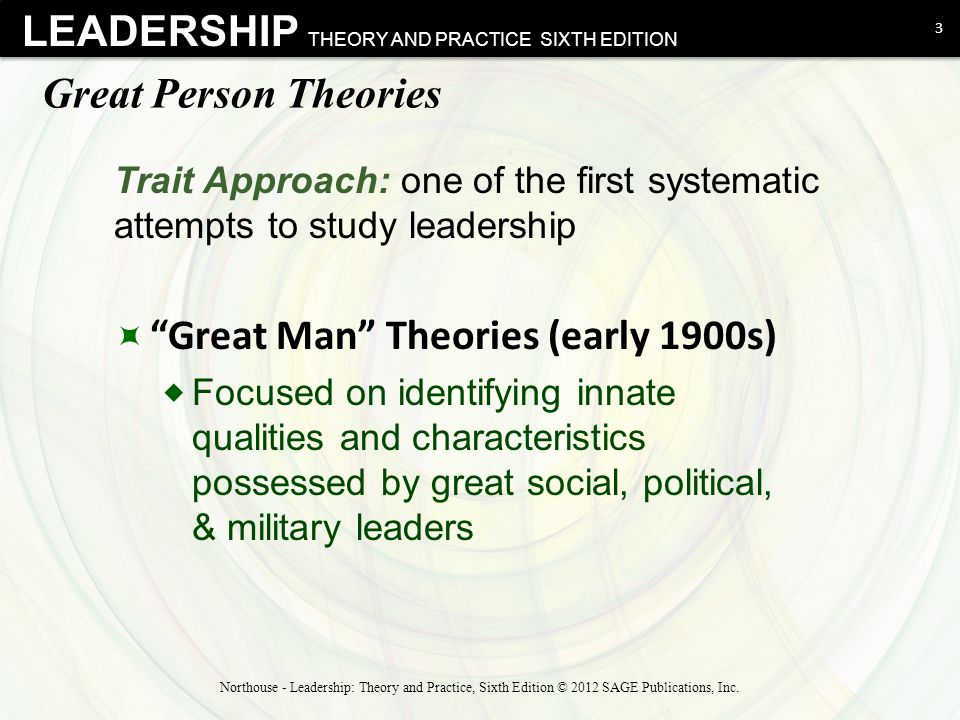 great man theory of leadership essay This essay was produced by one of our or traits including great man theory and and charismatic leadership theories the leadership.