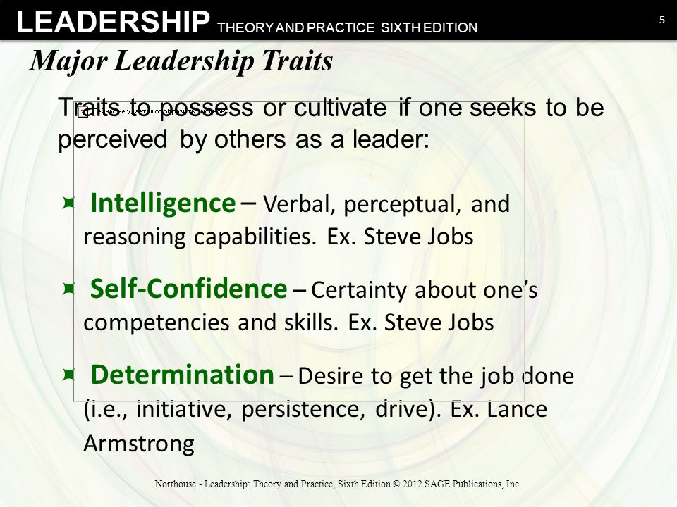 steve jobs' leadership traits skills and Through this essay efforts are made to apply relevant leadership theories in evaluate steve jobs leadership style using the and task-relevant skills.
