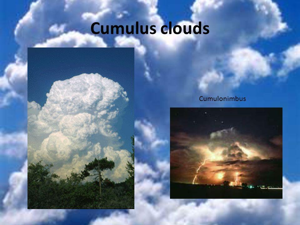 Cumulus clouds Cumulonimbus