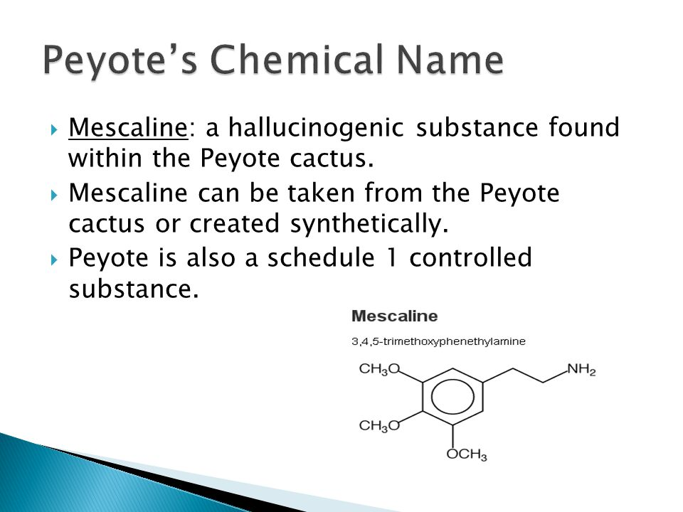 Peyote's Chemical Name