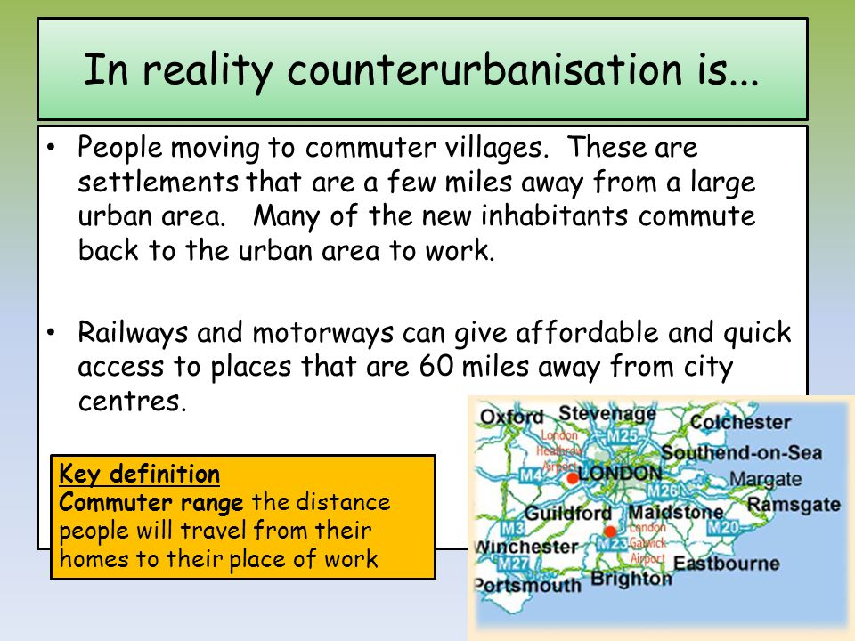 In reality counterurbanisation is...