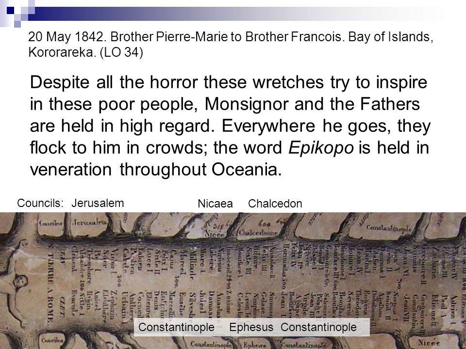 20 May 1842. Brother Pierre-Marie to Brother Francois