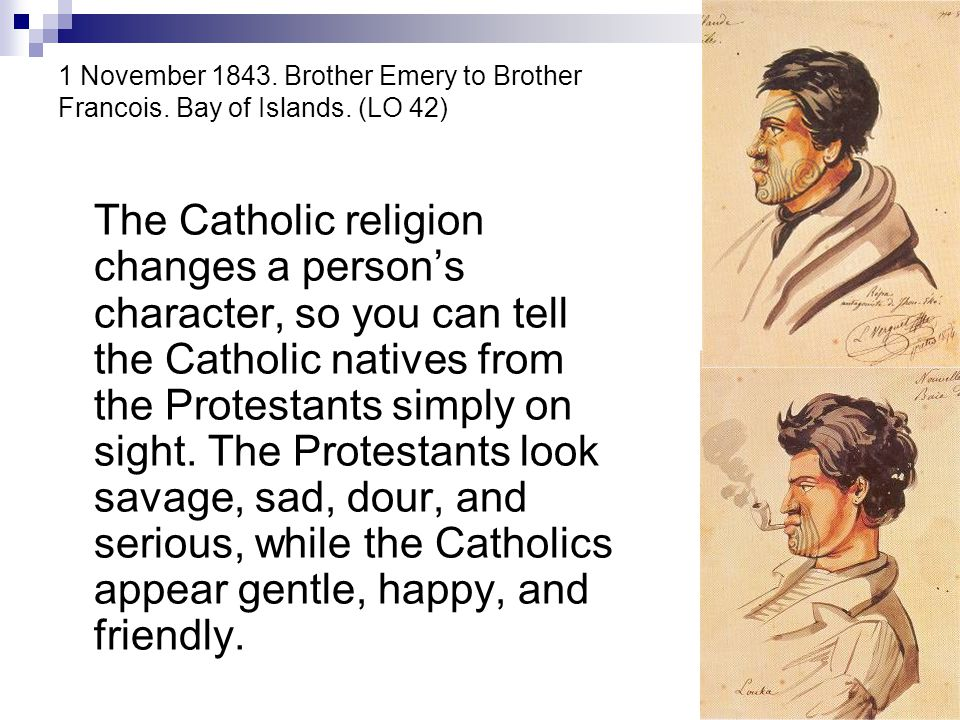 1 November 1843. Brother Emery to Brother Francois. Bay of Islands