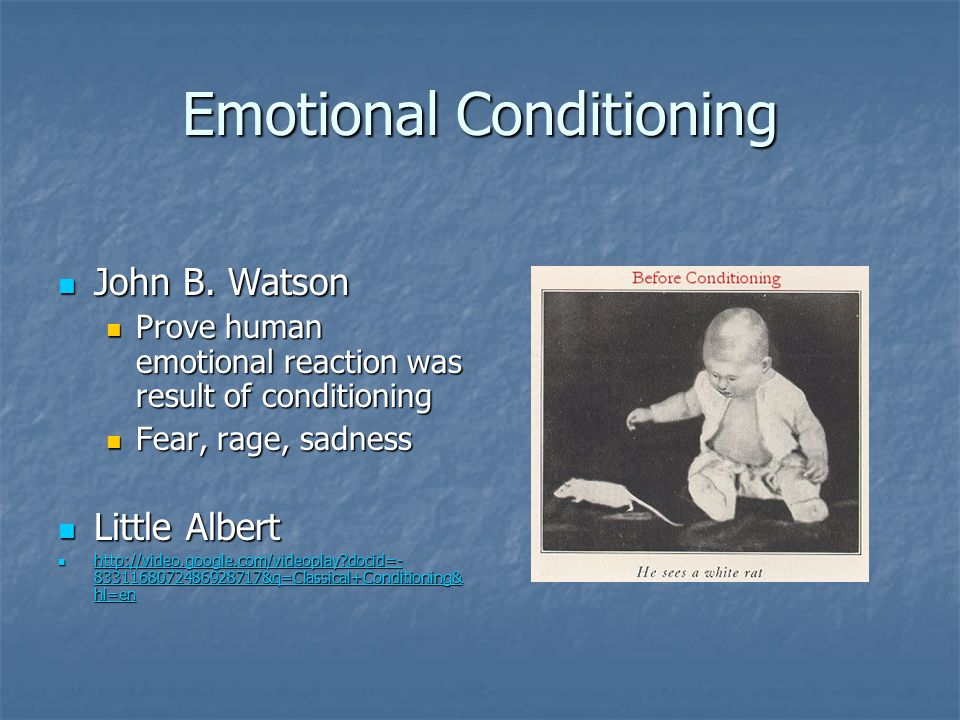 Emotional Conditioning
