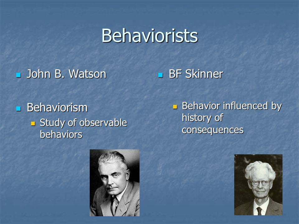 an introduction to skinners study on behaviorism Skinner believed that we do have such a thing as a mind, but that it is simply more productive to study observable behavior rather than internal mental events skinner believed that the best.