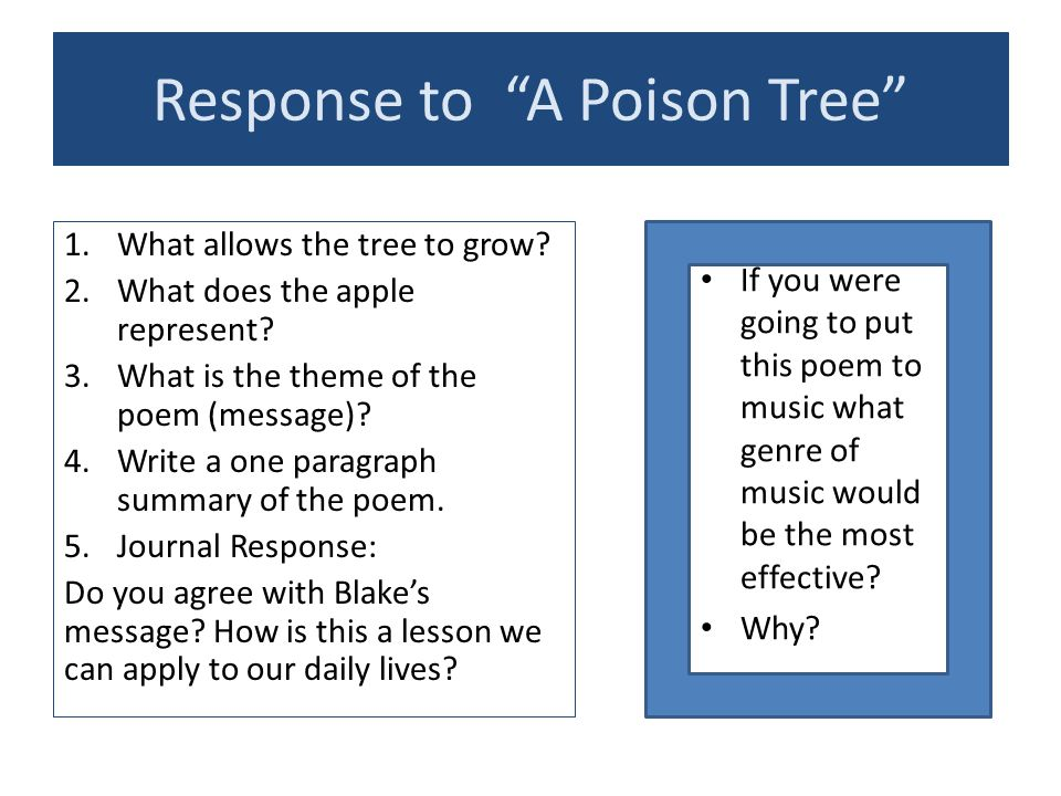 Response to A Poison Tree