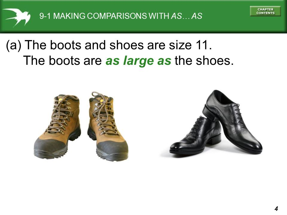 (a) The boots and shoes are size 11.