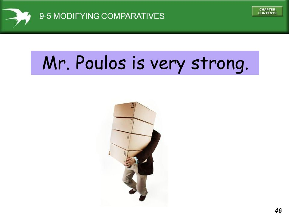 Mr. Poulos is very strong.