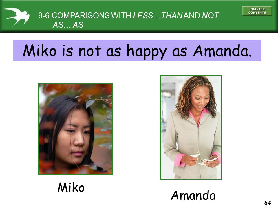 Miko is not as happy as Amanda.