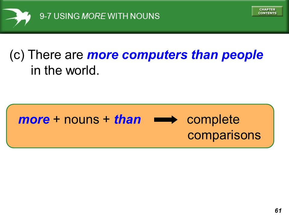 (c) There are more computers than people in the world.