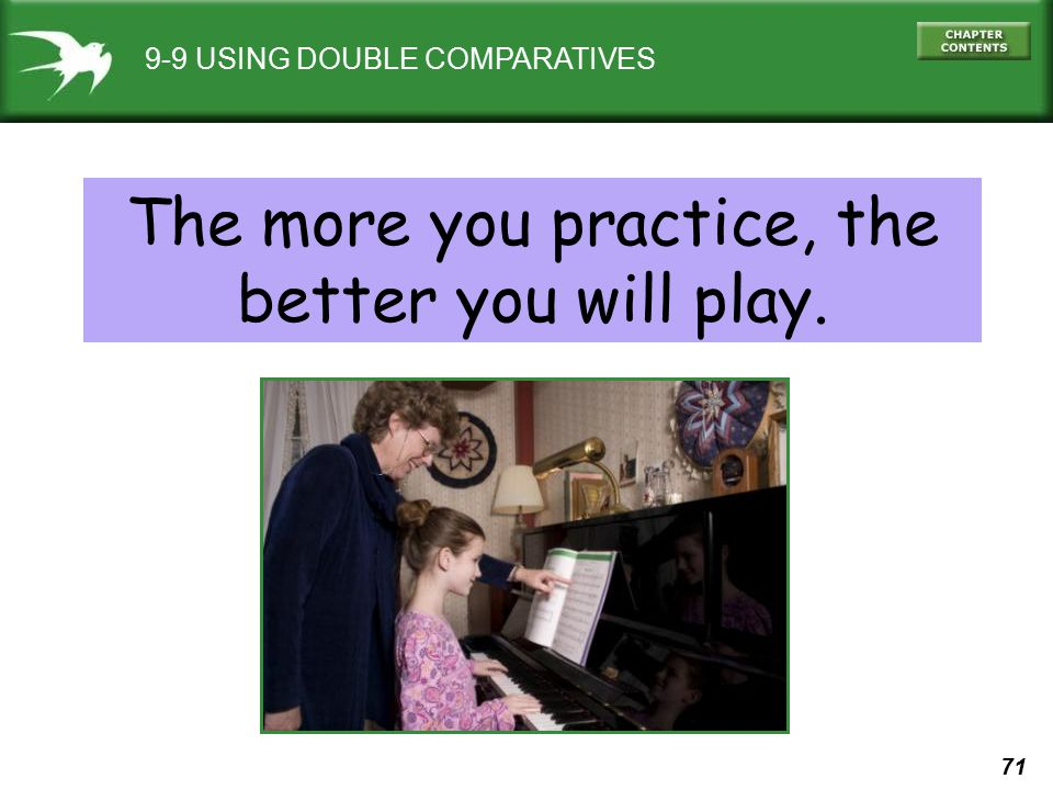 The more you practice, the better you will play.