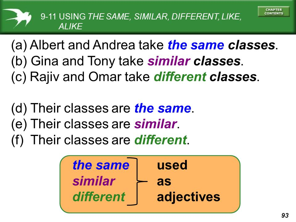 (a) Albert and Andrea take the same classes.