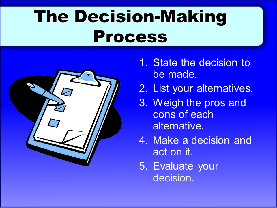 The Decision-Making Process