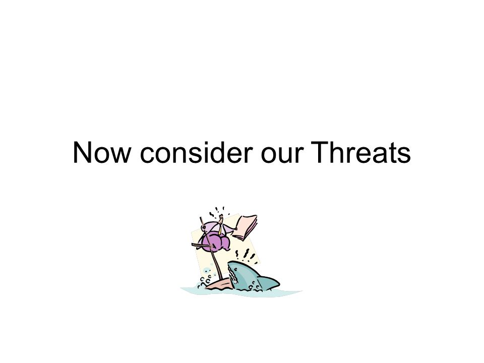 Now consider our Threats