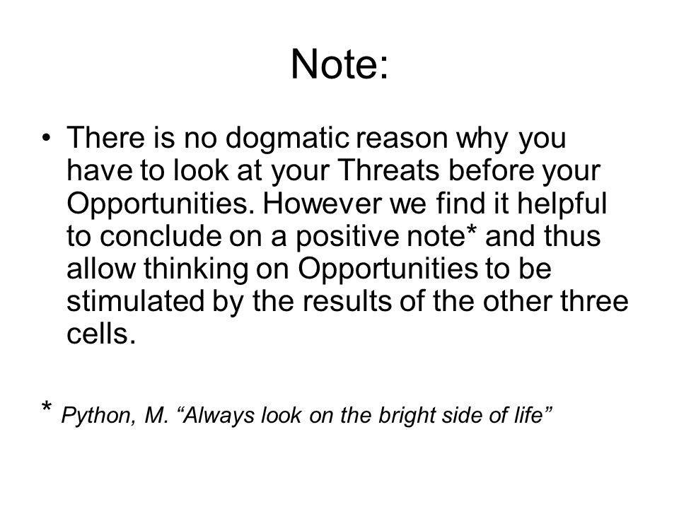 Note: