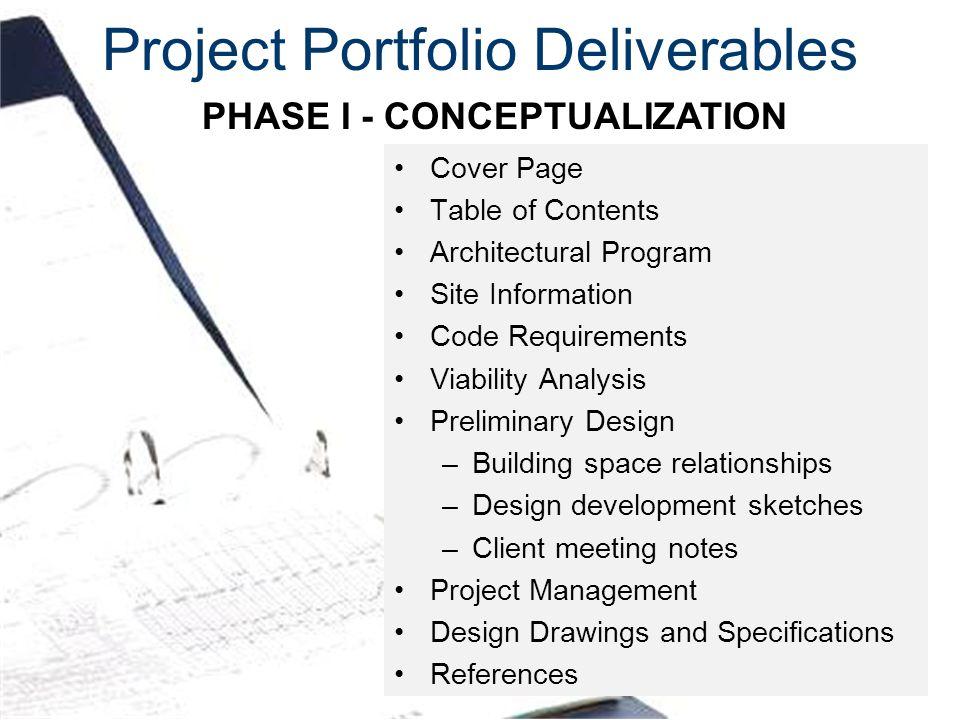 Project Portfolio Deliverables