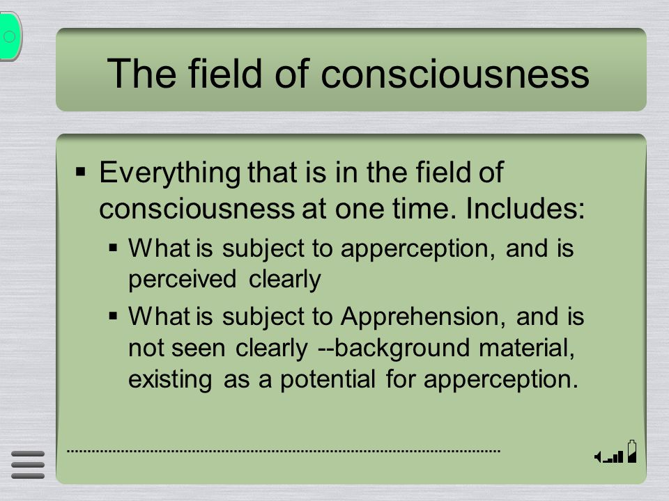 The field of consciousness