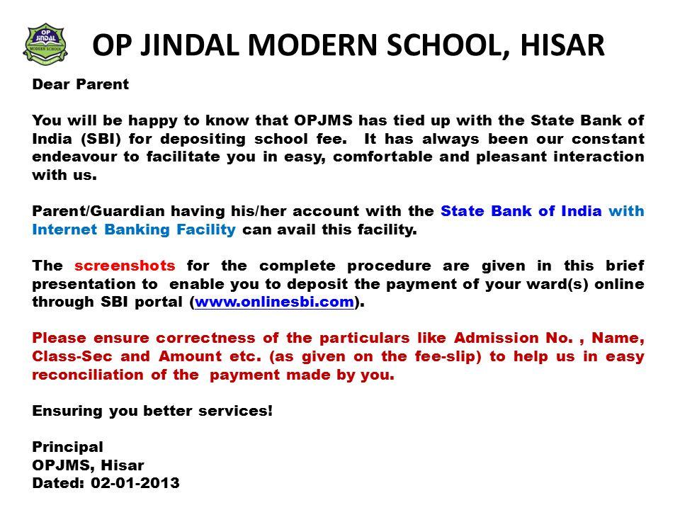 OP JINDAL MODERN SCHOOL, HISAR