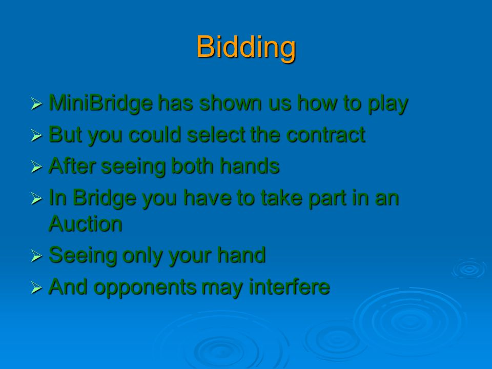 Bidding MiniBridge has shown us how to play