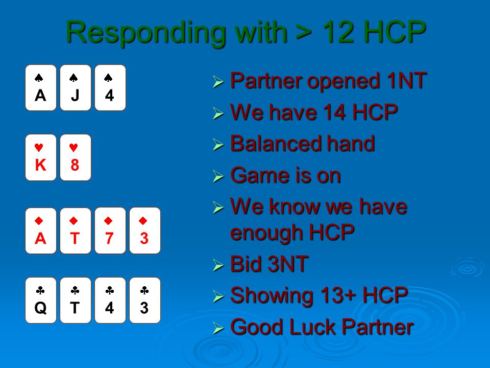 Responding with > 12 HCP