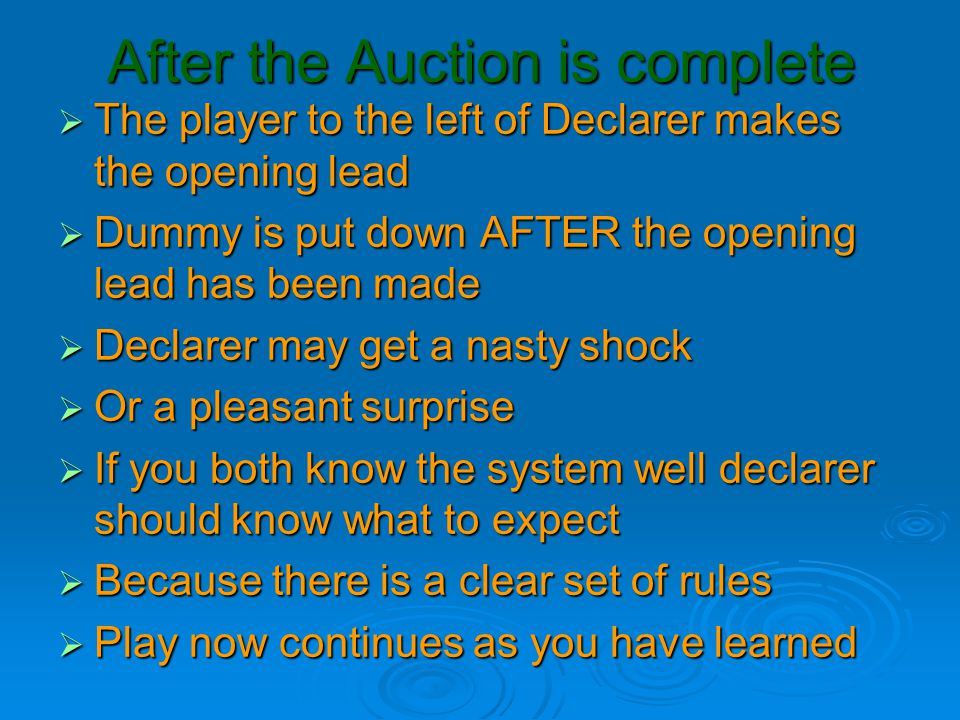 After the Auction is complete