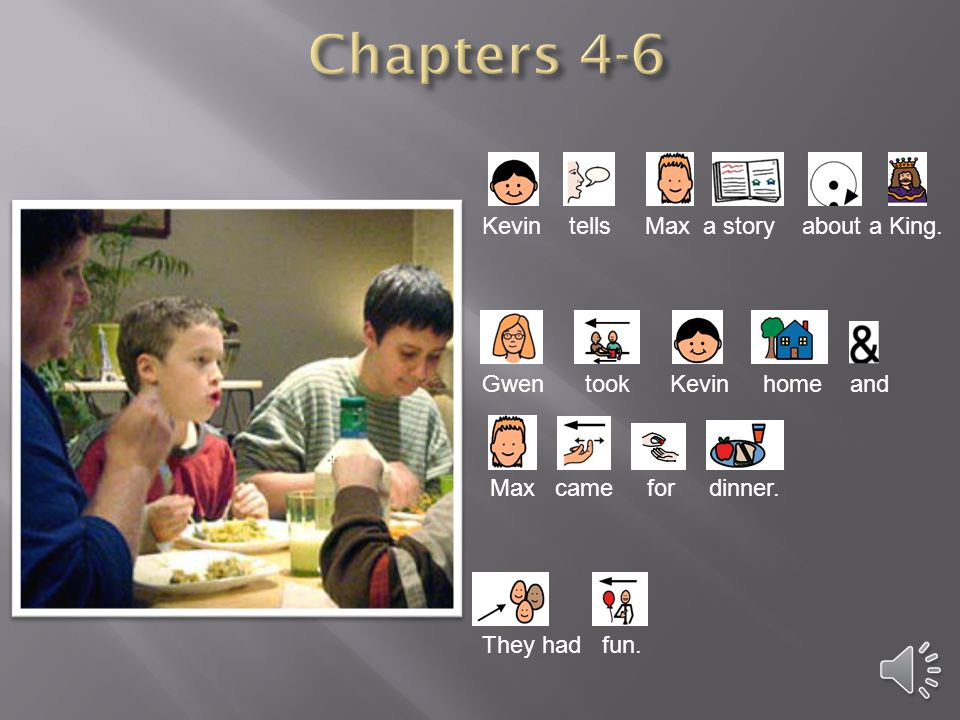 Chapters 4-6 Kevin tells Max a story about a King.