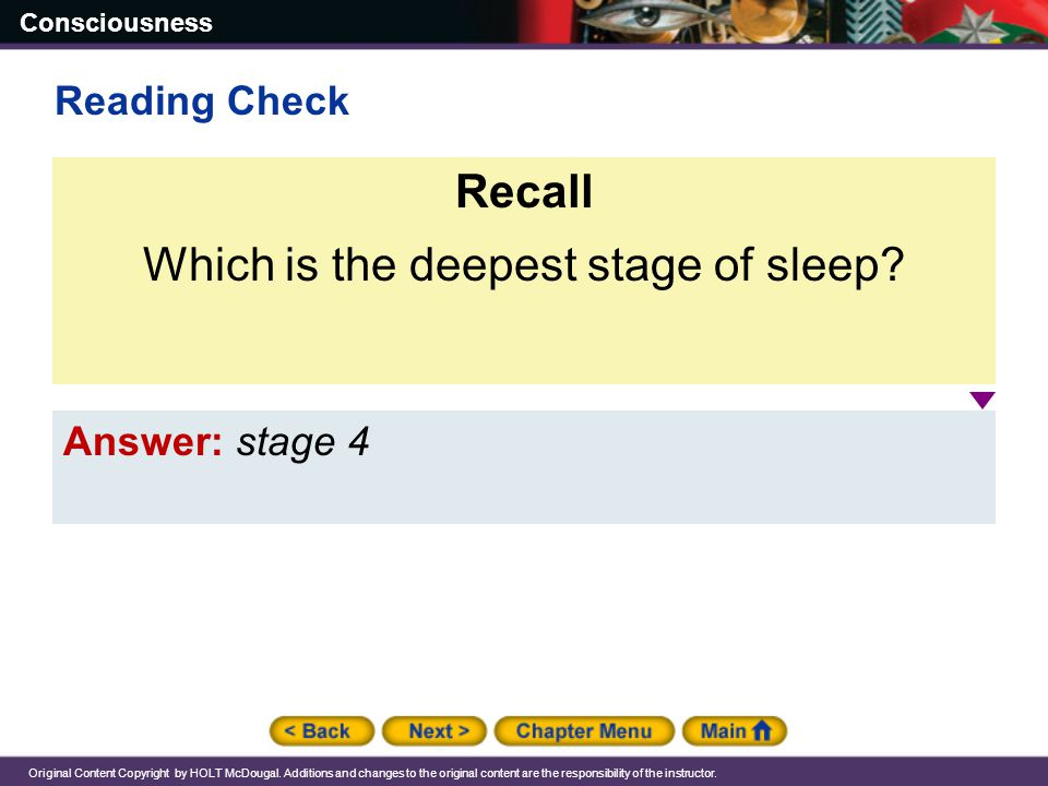 Which is the deepest stage of sleep