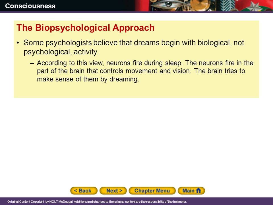 The Biopsychological Approach