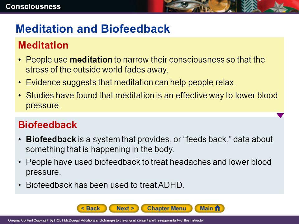 Meditation and Biofeedback