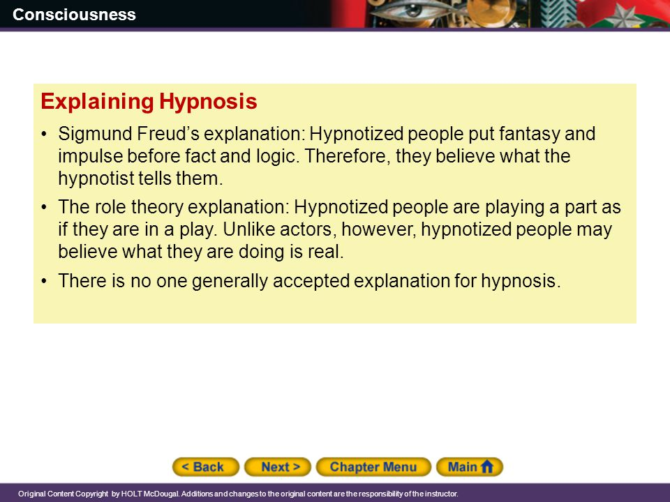 Explaining Hypnosis