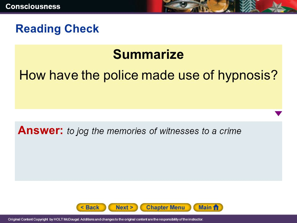 How have the police made use of hypnosis