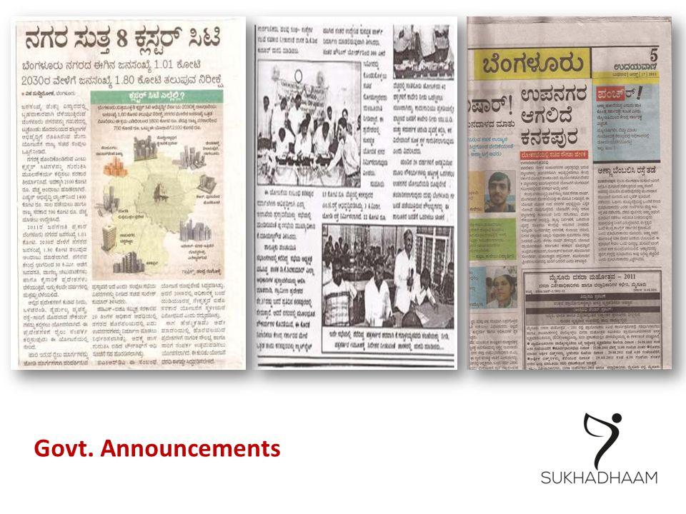 Govt. Announcements