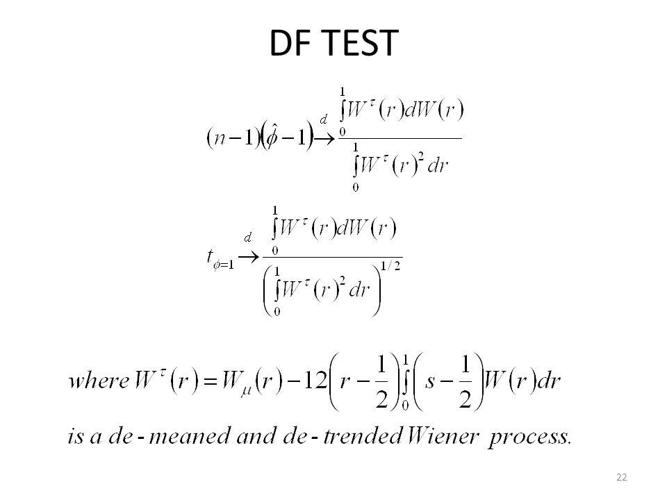 DF TEST