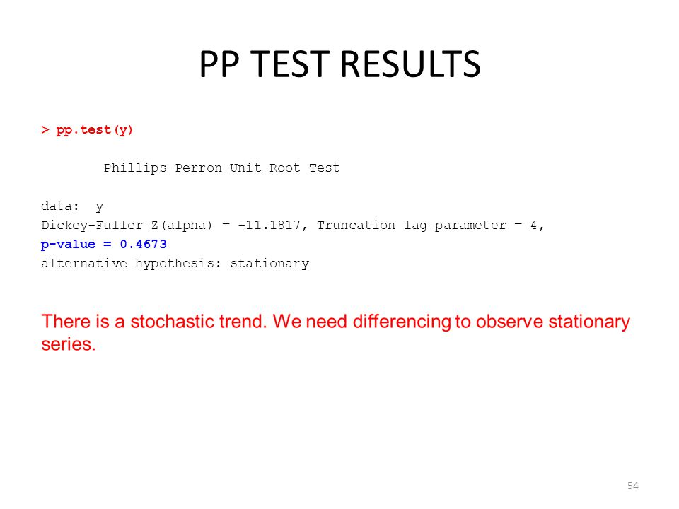 PP TEST RESULTS