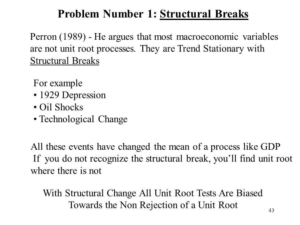 Problem Number 1: Structural Breaks
