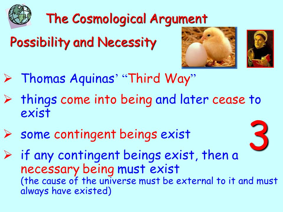 3 The Cosmological Argument Possibility and Necessity