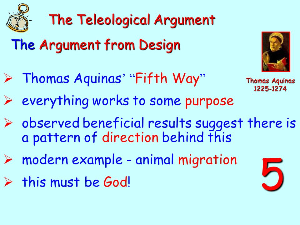 5 The Teleological Argument The Argument from Design