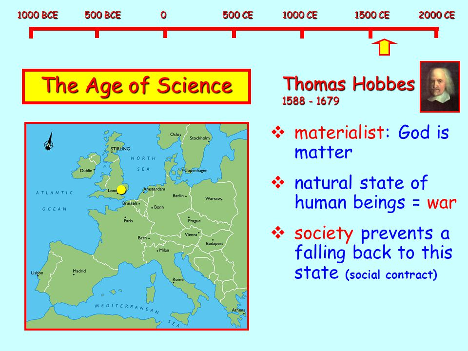 The Age of Science Thomas Hobbes 1588 - 1679