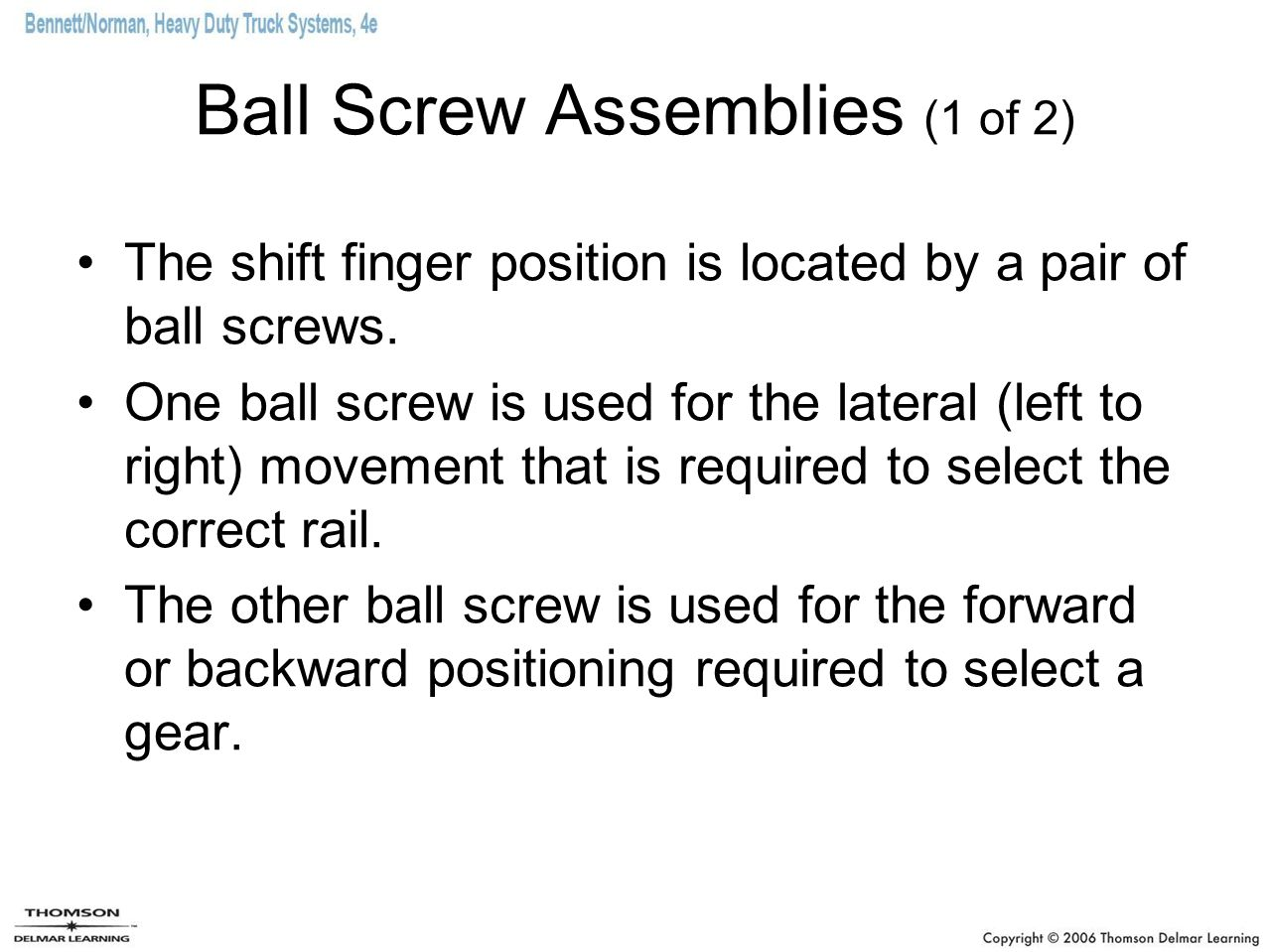 Ball Screw Assemblies (1 of 2)