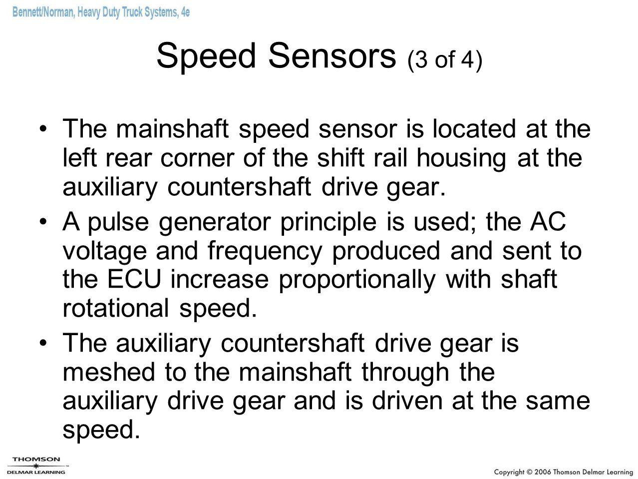 Speed Sensors (3 of 4)