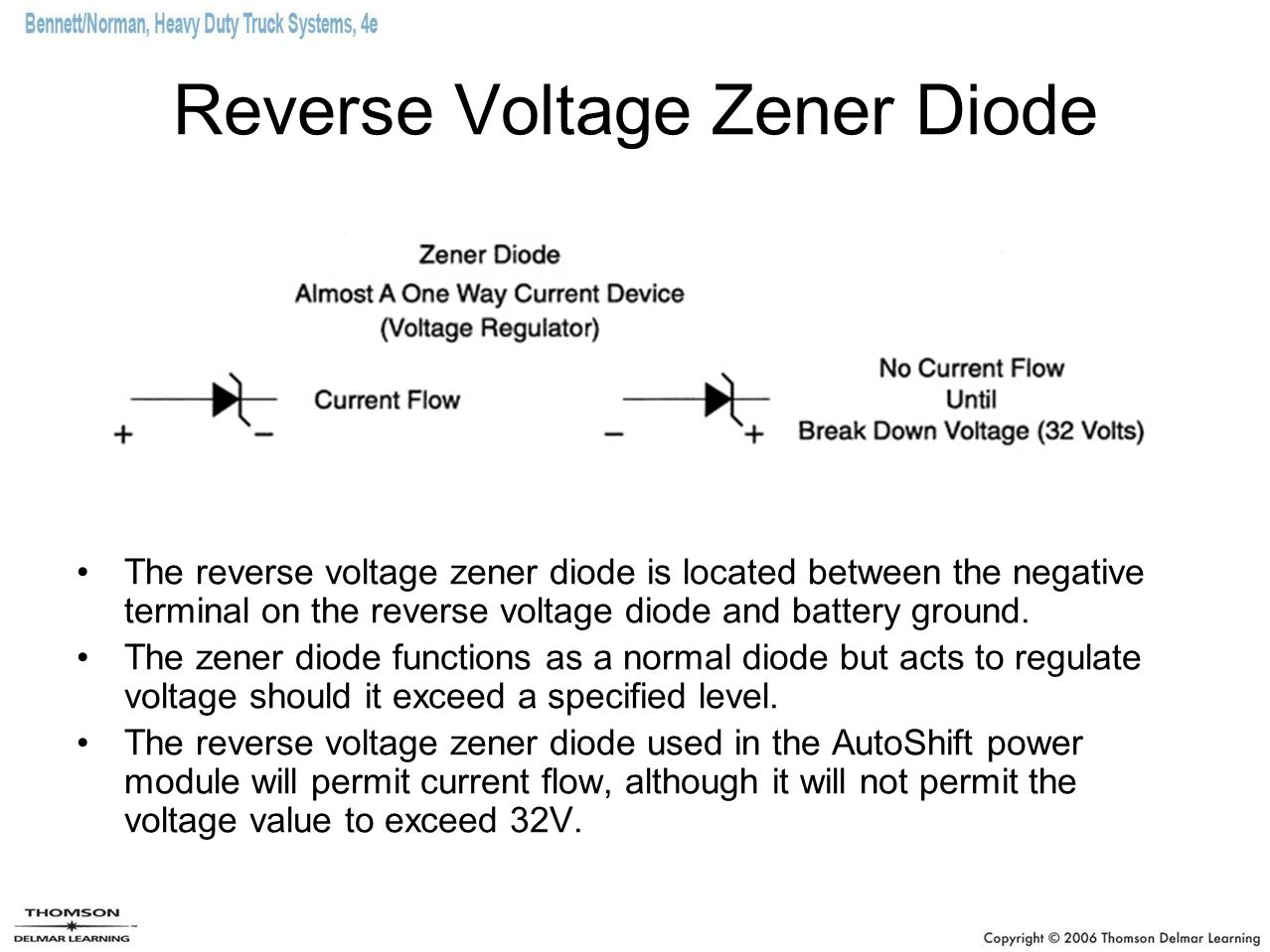 Reverse Voltage Zener Diode