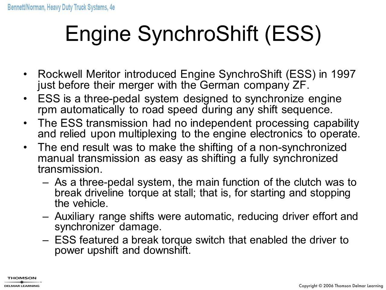 Engine SynchroShift (ESS)