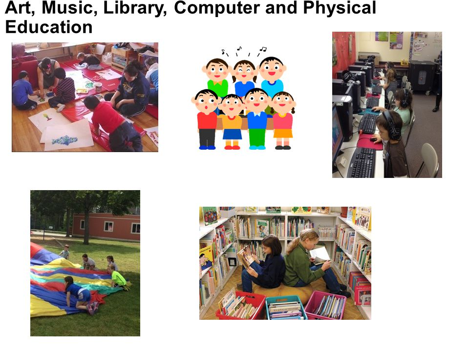 Art, Music, Library, Computer and Physical Education