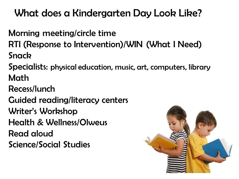 What does a Kindergarten Day Look Like
