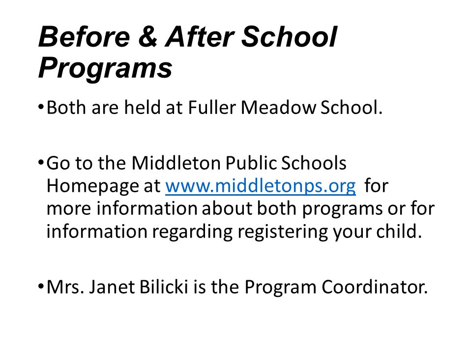 Before & After School Programs