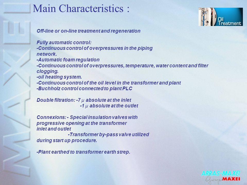 Main Characteristics :