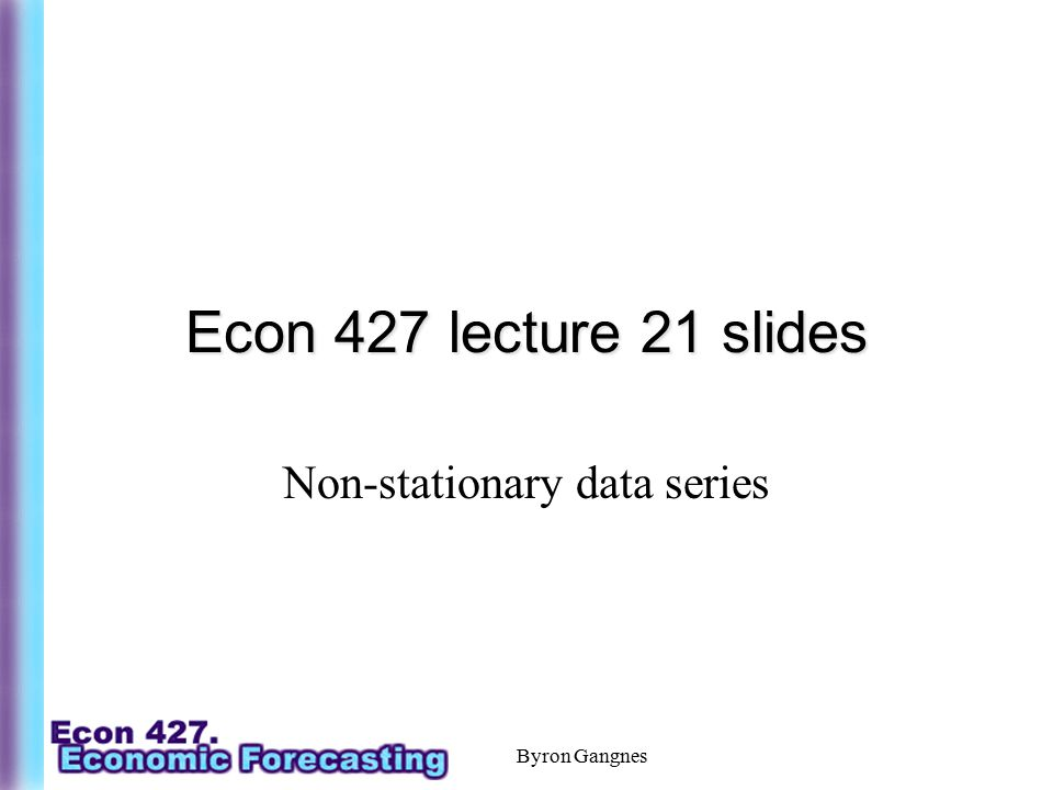 Non-stationary data series