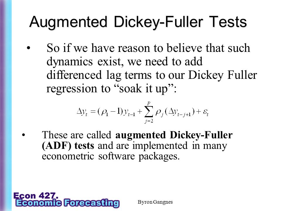Augmented Dickey-Fuller Tests