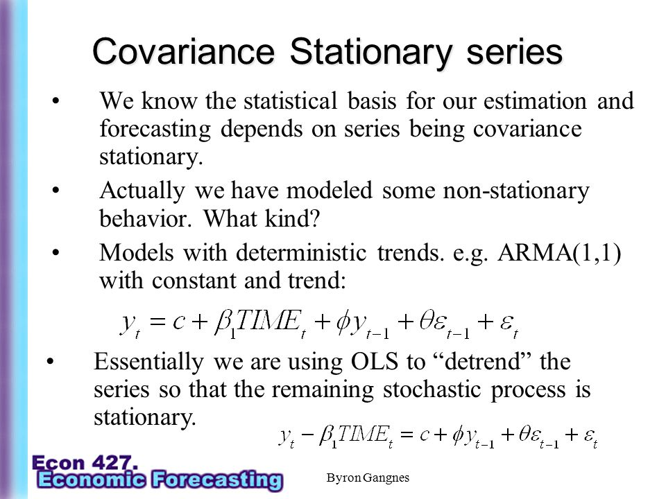 Covariance Stationary series